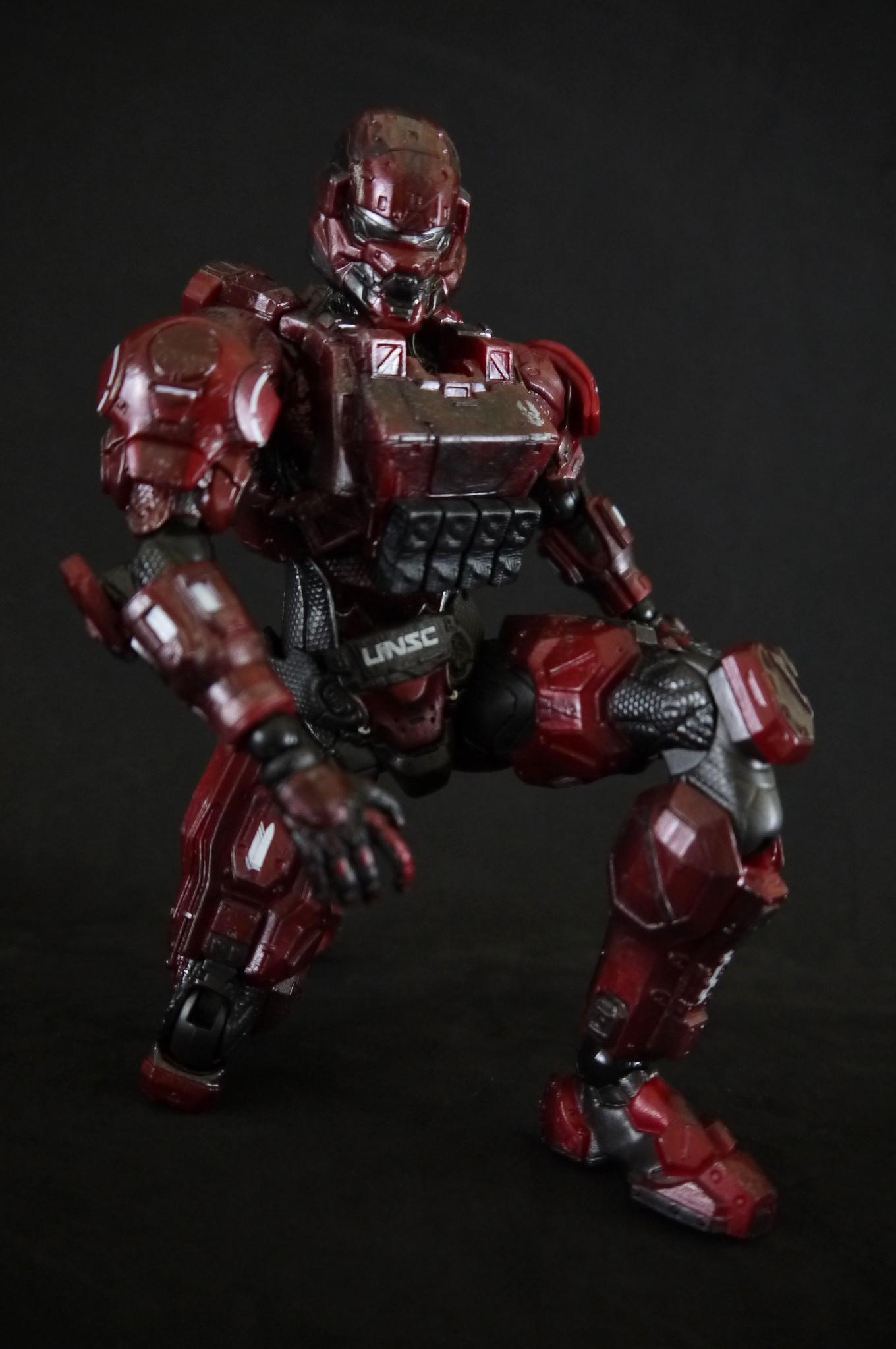 halo 4 play arts kai red spartan warrior supar robo